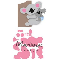 MARIANNE DESIGN COLLECTABLES ELINES KOALA AND BABY