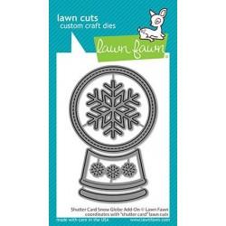 LAWN FAWN CUTS SHUTTER CARD SNOW GLOBE ADD-ON