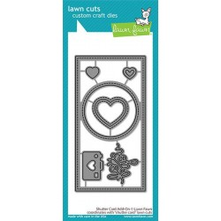 LAWN FAWN CUTS SHUTTER CARD ADD-ON