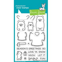 LAWN FAWN CLEAR STAMPS SNOW MUCH FUN