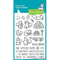 LAWN FAWN CLEAR STAMPS LETS GO NUTS