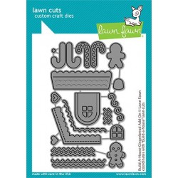 LAWN FAWN CUTS BUILD A HOUSE GINGERBREAD ADD-ON