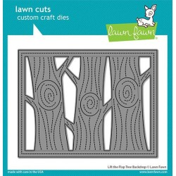 LAWN FAWN CUTS LIFT THE FLAP TREE BACKDROP