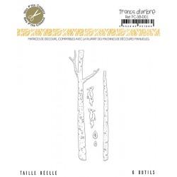 MES P'TITS CISEAUX - Sous Bois - Matrice de Découpe Troncs d'Arbres