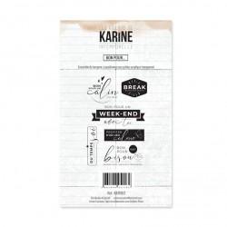 LES ATELIERS DE KARINE INTEMPORELLE Tampon Clear Bon pour ....