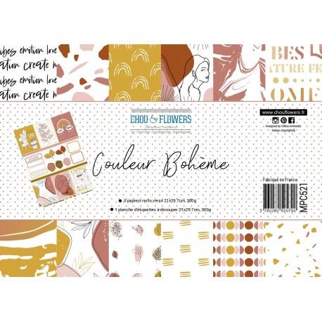 CHOU & FLOWERS COULEUR BOHEME - SET PAPIER A4
