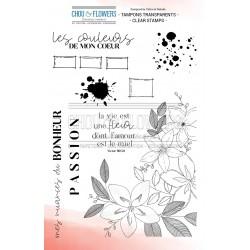 CHOU & FLOWERS TAMPONS CLEAR LA VIE EST UNE FLEUR