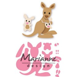 MARIANNE DESIGN COLLECTABLES ELINES KANGAROO AND BABY