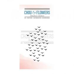 CHOU & FLOWERS TAMPONS CLEAR ENVOL D'OISEAUX