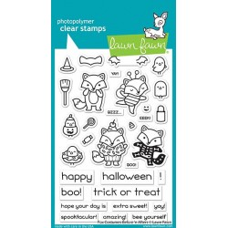 LAWN FAWN CLEAR STAMPS fox costumes before 'n afters