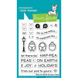 LAWN FAWN CLEAR STAMPS Peas on Earth