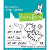 LAWN FAWN CLEAR STAMPS wINTER DRAGON