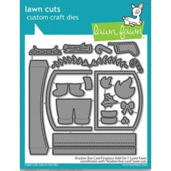 LAWN FAWN CUTS SHADOW BOX CARD FIREPLACE ADD-ON