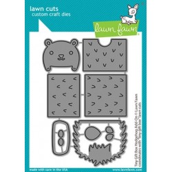 LAWN FAWN CUTS TINY GIFT BOX HEDGEHOG ADD-ON DIES