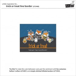 LAWN FAWN CUTS TRICK OR TREAT LINE BORDER DIE
