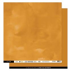 FLORILEGES DESIGN Papier uni AMBRE 30,5 x 30,5 cm