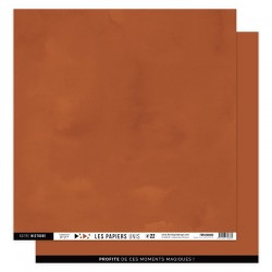 FLORILEGES DESIGN Papier uni TERRACOTTA 30,5 x 30,5 cm