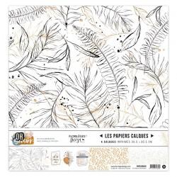 FLORILEGES DESIGN KIT CALQUE, 30,5 x 30,5 cm OR SAISON