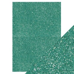 Tonic Studios glitter card TURQUOISE LAKE