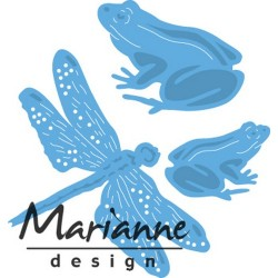 MARIANNE DESIGN CREATABLES TINYS FROGS AND DRAGONFLY