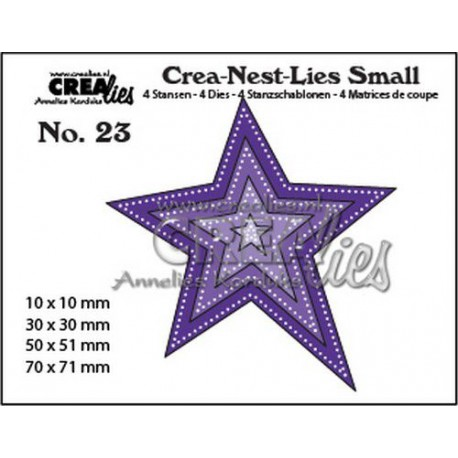 Crealies Crea-nest-dies small star with double dots