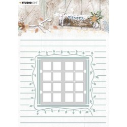 Studio Light Embossing Folder With Die Cut, Winter Charm nr. 08