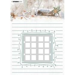 Studio Light Embossing Folder With Die Cut, Winter Charm nr. 08