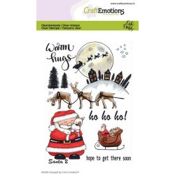 CRAFTEMOTIONS CLEAR STAMPS SANTA 2