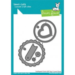 LAWN FAWN CUTS scalloped CIRCLE GIFT TAG DIES