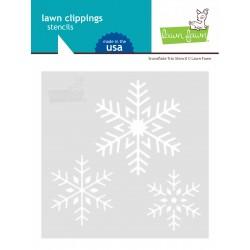 LAWN FAWN SNOWFLAKE TRIO STENCIL