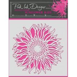 Pink Ink • Stencil 20,3x20,3cm Sunflower Rays
