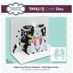 CREATIVE EXPRESSIONS Paper Cuts • Polar Bear Family Craft Die