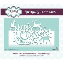 CREATIVE EXPRESSIONS Paper Cuts • Merry Christmas Craft Die