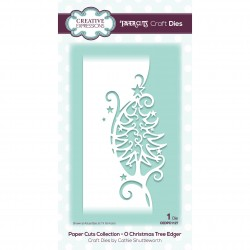 CREATIVE EXPRESSIONS Paper Cuts • O Christmas Tree Edger Craft Die
