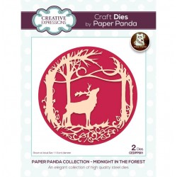 CREATIVE EXPRESSIONS Paper Cuts • Paper Panda Midnight In The Forest Craft Die