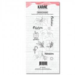 LES ATELIERS DE KARINE JARDIN D'HIVER Tampon Clear CREATIONS SUR MESURE