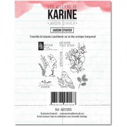 LES ATELIERS DE KARINE JARDIN D'HIVER Tampon Clear JARDIN D'HIVER