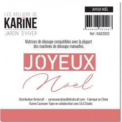 LES ATELIERS DE KARINE JARDIN D'HIVER DIES JOYEUX NOEL