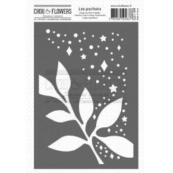 CHOU & FLOWERS POCHOIR A6 FEUILLE ETOILEE ESPRIT COTTAGE