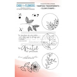 CHOU & FLOWERS TAMPONS CLEAR PLANTES ETOILEES ESPRIT COTTAGE