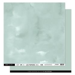 FLORILEGES DESIGN Papier uni CELADON 30,5 x 30,5 cm