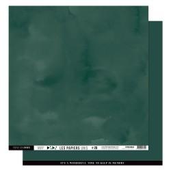 FLORILEGES DESIGN Papier uni VERT FORET 30,5 x 30,5 cm