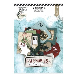 FLORILEGES DESIGN DIE CUTS IMPRIMES OH WINTER Calendrier de l'Avent