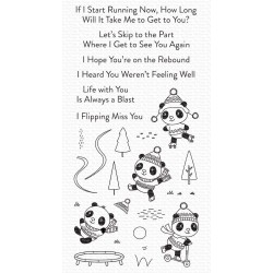 MFT CLEAR STAMPS PANDAS AT PLAY