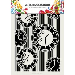 Dutch Doobadoo Dutch Mask Art Clocks & Stripes A4 Grand Format