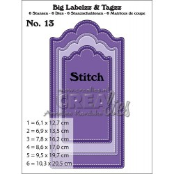 Big Labelzz & Tagzz stansen no. 13, with Stitchline