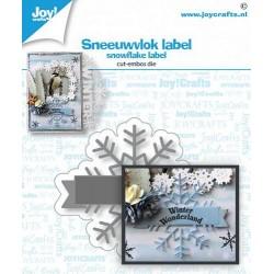 JoyCrafts • STANZER SNOWFLAKE LABEL