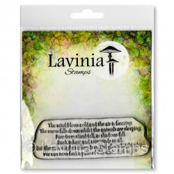 Lavinia Stamps SNOW FALLS TEXT