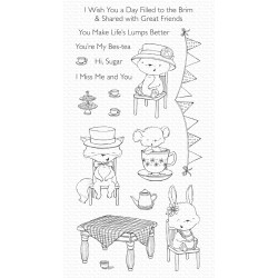 MFT TEA PARTY CLEAR STAMPS