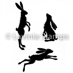 Lavinia Stamps WHIMSICAL HARES